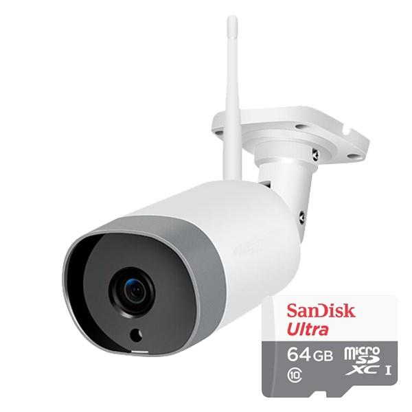 미캠 실외형 200만화소 가정용 홈CCTV IP네트워크 와이파이 카메라 [64GB포함]