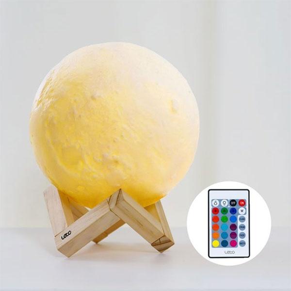 [레토] 16컬러 3D 입체 달 무드등 LED 조명 스탠드 LML-M20