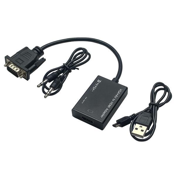 대원TMT VGA(RGB) to HDMI 컨버터, 오디오 지원 [블랙] [DW-SMT07]