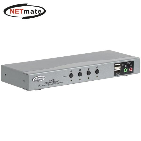 NETmate NM-DKD04C [KVM스위치/4:1/케이블 포함]