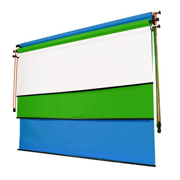 벽면고정형 3롤 체인 배경시스템 WC3R-2.7
