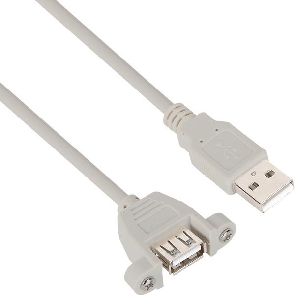 NETmate USB2.0 판넬형 연장 케이블 [AM-AF] [2M/그레이] [NMC-UF220SV]