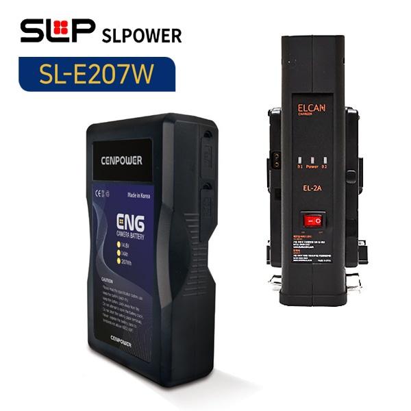SL-E207W 배터리 2개 + 엘칸 2구 충전기 세트/방송영상장비세트