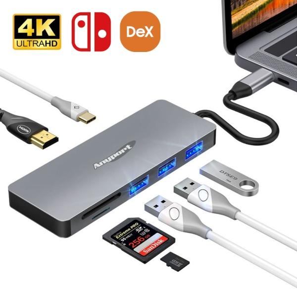 애니포트 USB3.0 C타입 멀티 컨버터, 오디오 지원 [AP-TC71PH]