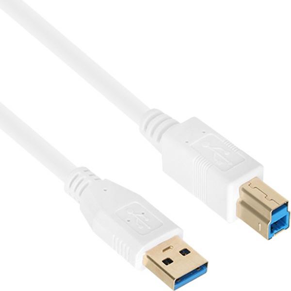 NETmate USB3.0 케이블 [AM-BM] [3M/화이트] [NM-UB330Z]