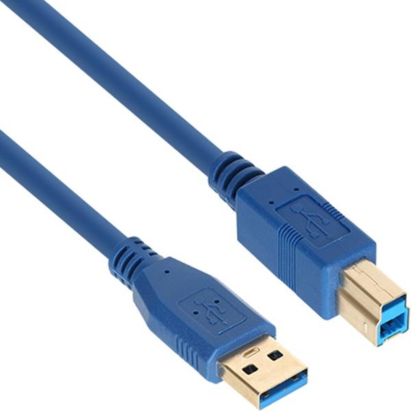 NETmate USB3.0 케이블 [AM-BM] [0.5M/블루] [NM-UB305BLZ]