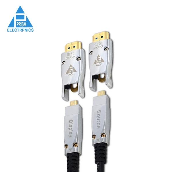 프리즘일렉트로닉스 HDMI 광 양쪽 분리형 케이블 [Ver2.0] 50M [PR-AOC50BB]