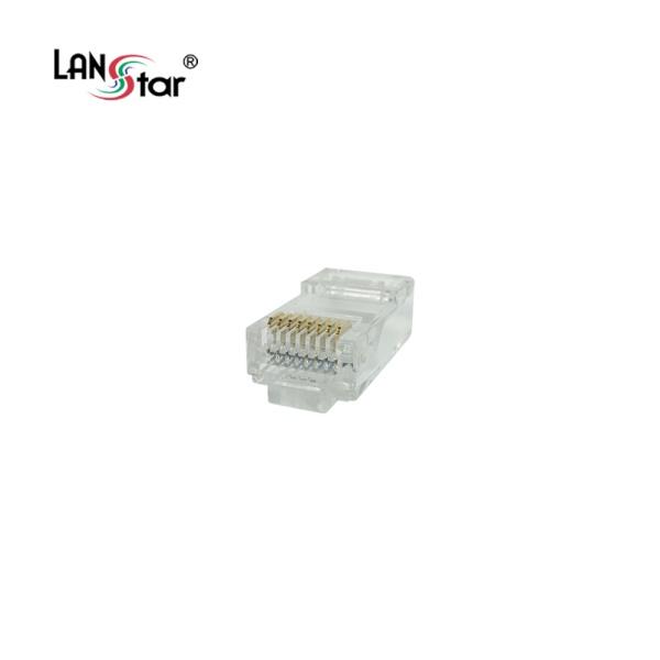 랜스타 모듈러콘넥터, 통과형 CAT.5E, UTP, 8P8C [LSN-5EPASS-UTP] [투명/100개]