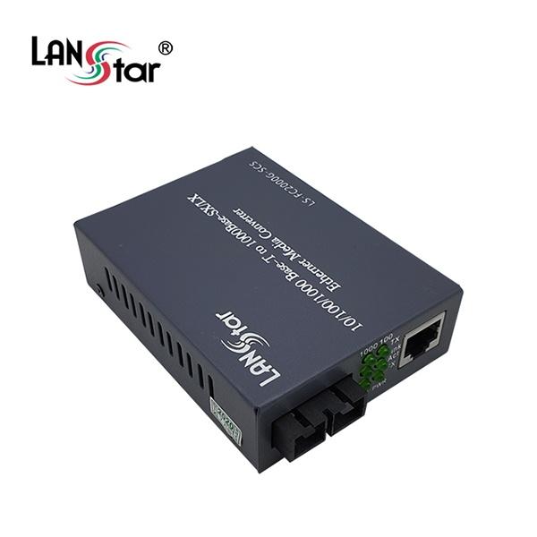 랜스타 LS-FC2000G-SCS 광 미디어 컨버터 [1000Mbps/SC/싱글]