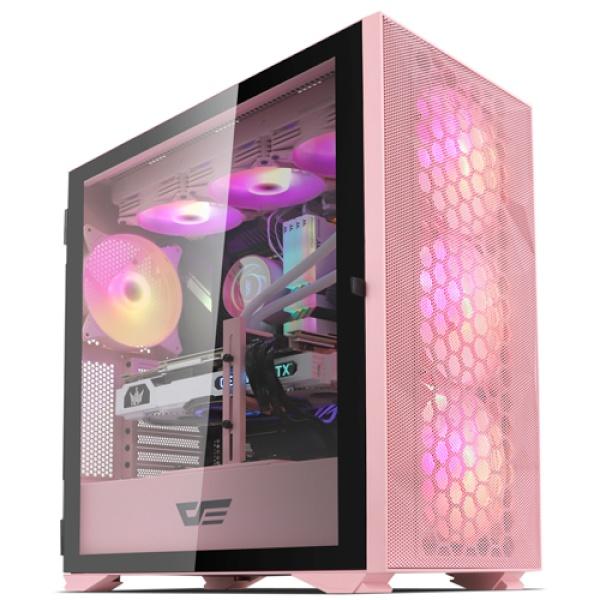 DLX21 RGB MESH 강화유리 핑크 (미들타워)