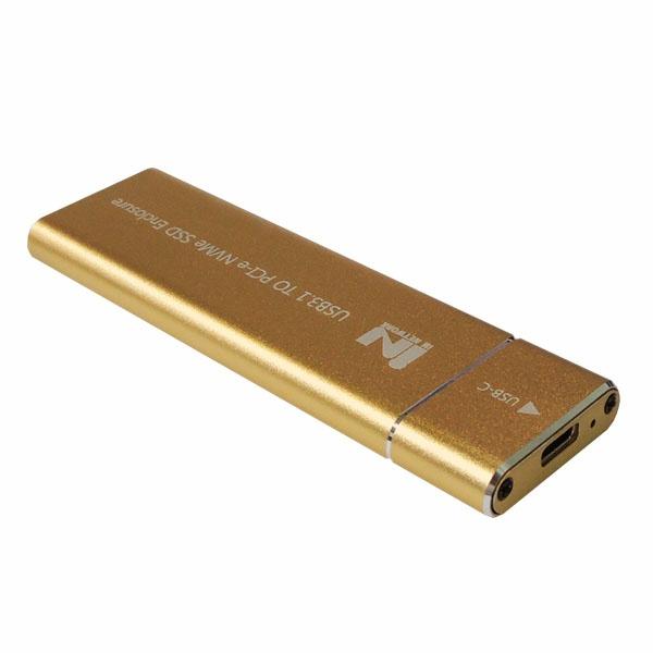 외장SSD 케이스, IN-SSDM2A  [M.2 NVMe SSD 케이스/USB3.1 Gen2] [골드]