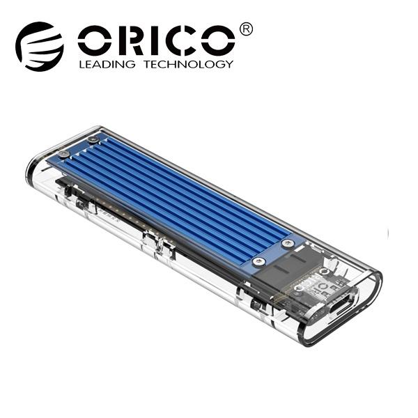 외장케이스, TCM2M-C3 [Nvme,SATA 겸용] [USB3.1 Gen2/C-C케이블 포함] [블루/투명]