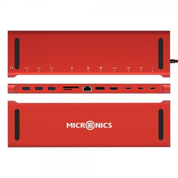 마이크로닉스 MN-1002 (USB C타입허브/12포트/무전원)