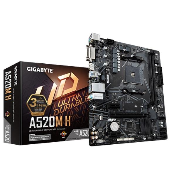 A520M H 듀러블에디션 제이씨현 (AMD A520/M-ATX)