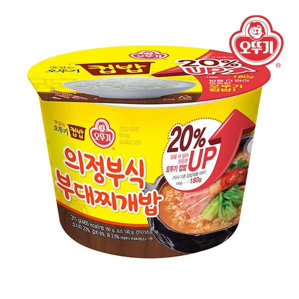 컵밥 의정부식부대찌개밥(증량) 311g 12개(한박스)