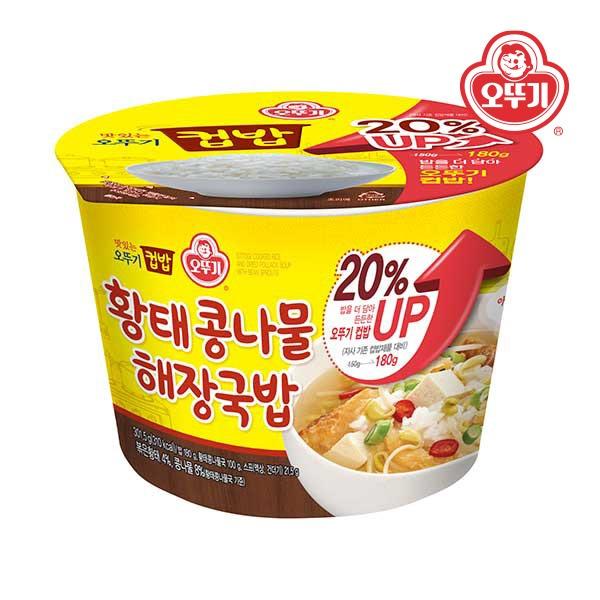 컵밥 황태콩나물해장국밥(증량) 301.5g 12개(한박스)