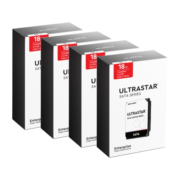 Ultrastar HDD 패키지 18TB DC HC550 WUH721818ALE6L4 패키지 18TB DC HC550 WUH721818ALE6L4 패키지 (3.5HDD/ SATA3/ 7200rpm/ 512MB/ CMR) [4PACK]