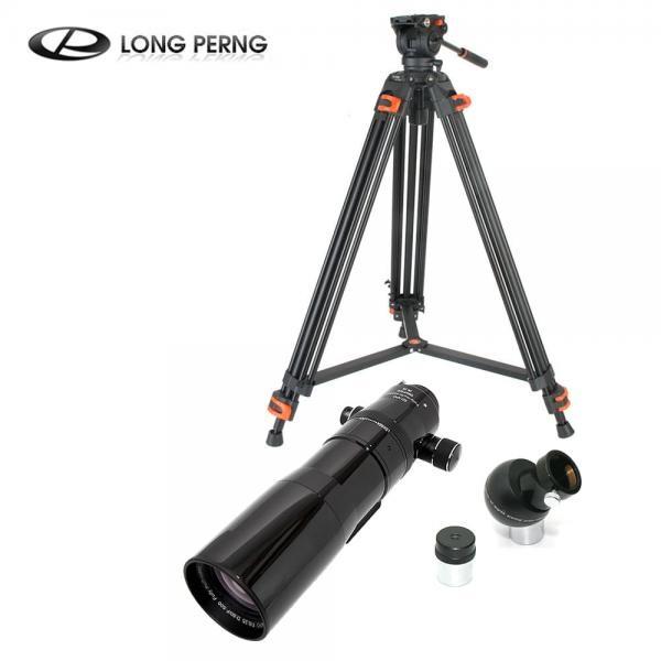 [세트 상품] 롱펑 80 ED APO F500/80mm 정립프리즘 20mm 접안렌즈 삼각대 굴절식 천체망원경