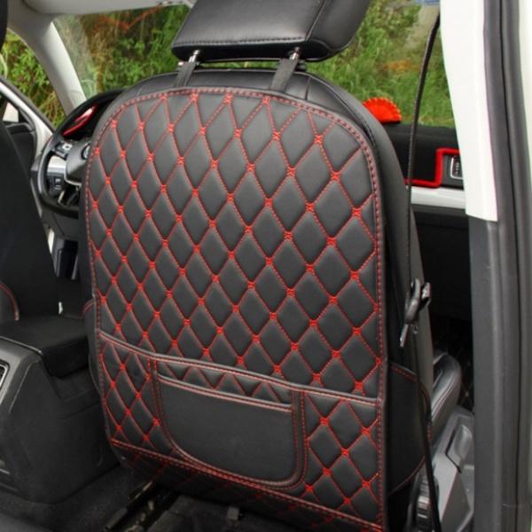 차량용 시트보호 킥매트 GTS38312 레드