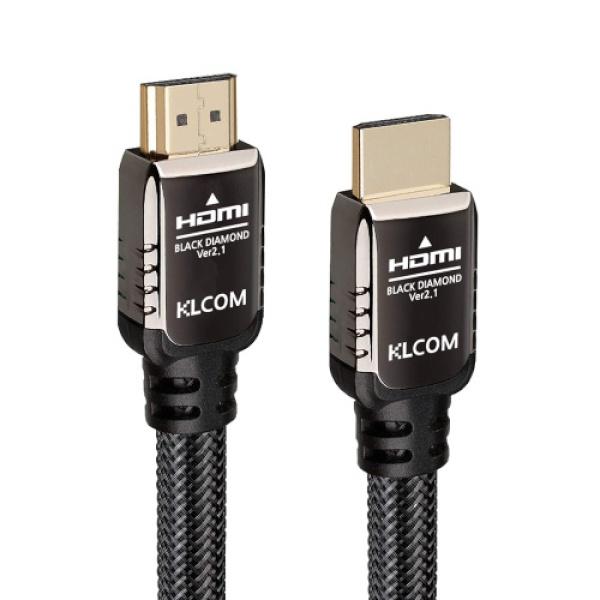 KLCOM HDMI 아머드 케이블 [Ver2.1] [블랙/0.3M] [KL81]