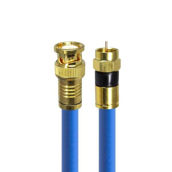 HDTOP 국산 BNC to RF 5C 동축 골드 케이블 [50M/블루] [HT-ZBGBR500]
