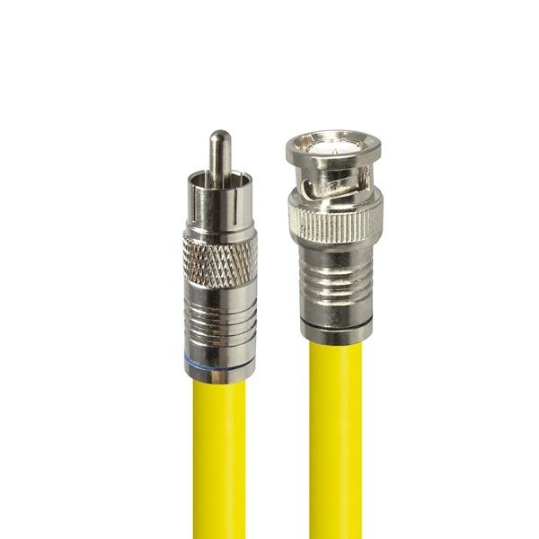 HDTOP 국산 RCA to BNC 5C 동축 케이블 [5M/옐로우] [HT-ZYCB050]