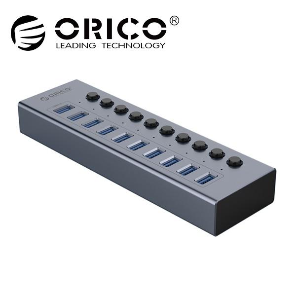 오리코 BT2U3-10AB (USB3.0허브/10포트/유전원) [그레이][아답터 포함]