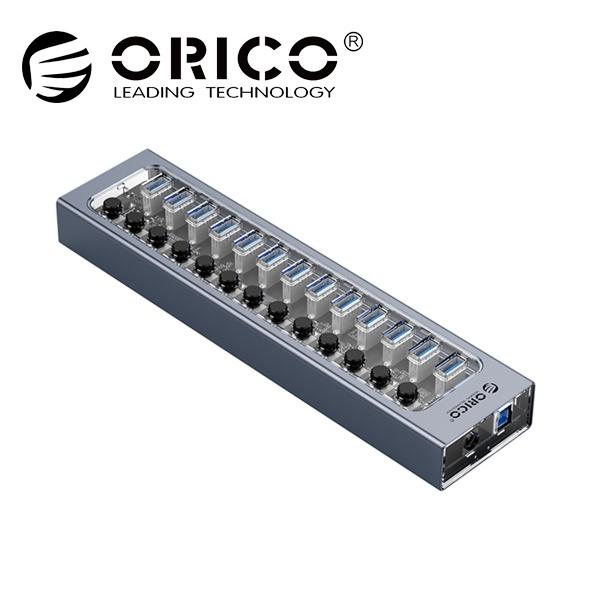 오리코 AT2U3-13AB (USB3.0허브/13포트/유전원) [그레이/투명][아답터 포함]