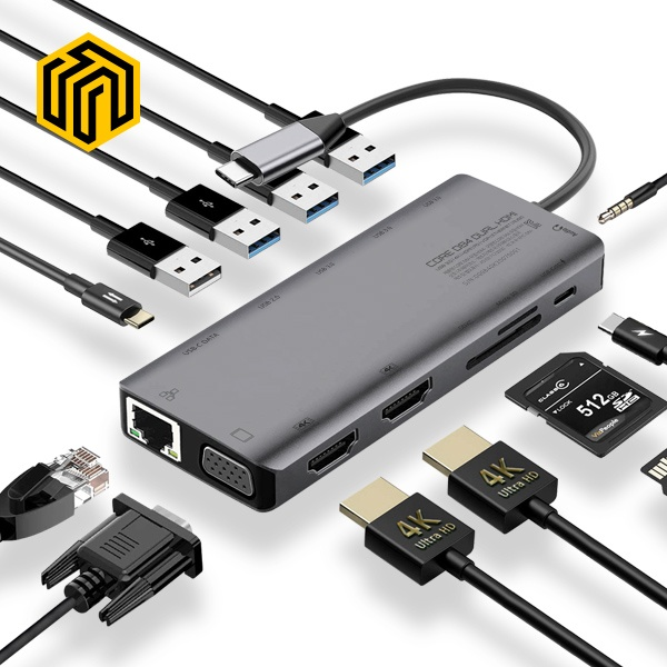 씽크웨이 CORE D84 (USB Type-C허브/13포트/무전원)