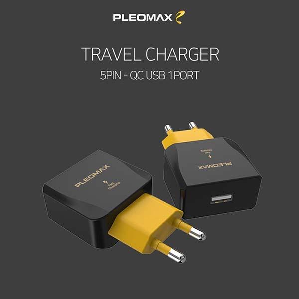 플레오맥스 USB 1포트 마이크로 5핀 고속충전기 (9V/1.67A/1M) [PLM-QTC1-241]