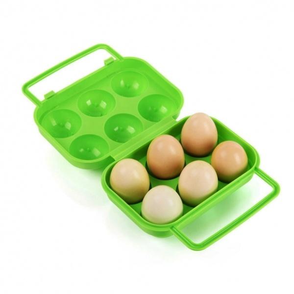 [GTS38517] 캠핑랜드 휴대용 6구 계란케이스(그린)