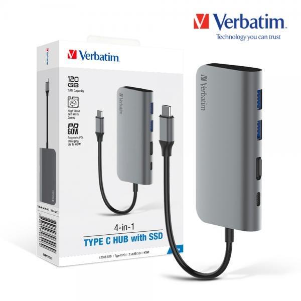 버바팀 C타입 허브 [멀티허브/USB C타입/USB3.0] [SSD 120G 내장]