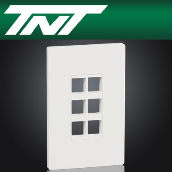 TNT NM-TNT60 아울렛 6포트 페이스 플레이트