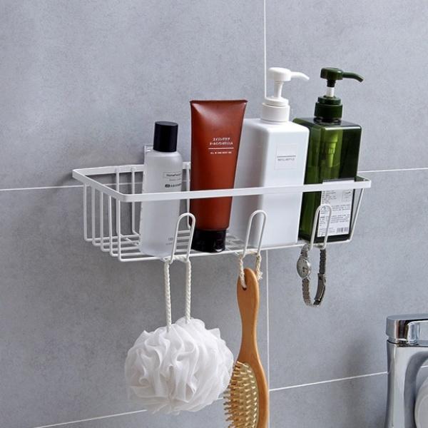 [GTS38719] 러빙홈 접착식 후크 욕실선반(화이트)