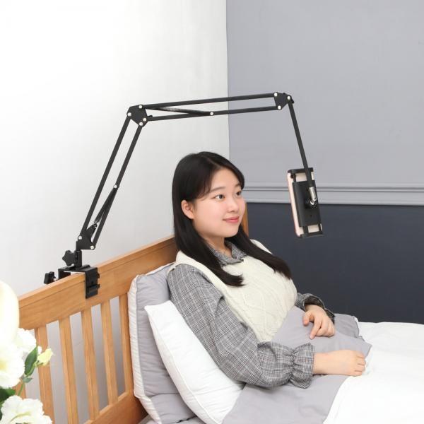 [(주)에이비엘코리아] ABSL N3 핸드폰 침대 자바라거치대 [색상 선택] [블랙]