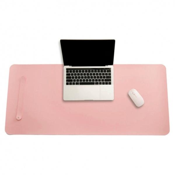 파스텔 휴대용 가죽 데스크 매트 (80x40cm) [제품선택] (핑크)[GTS38057]