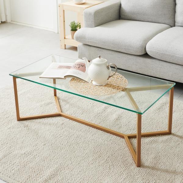 모네 강화유리 거실 테이블