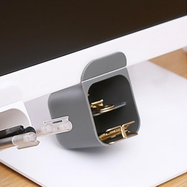 접착식 데스크+모니터 연필꽂이(5.5x5.5cm) [제품선택] (그레이) [GTS37571]