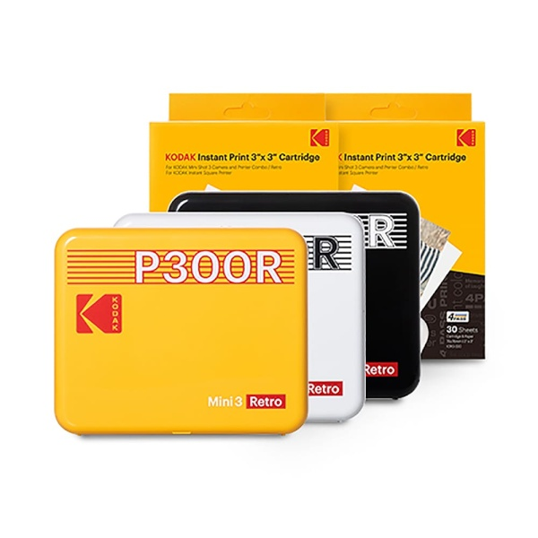 휴대용 포토프린터 미니 3 레트로 P300R 핸드폰 사진인화기 + 카트리지 60매