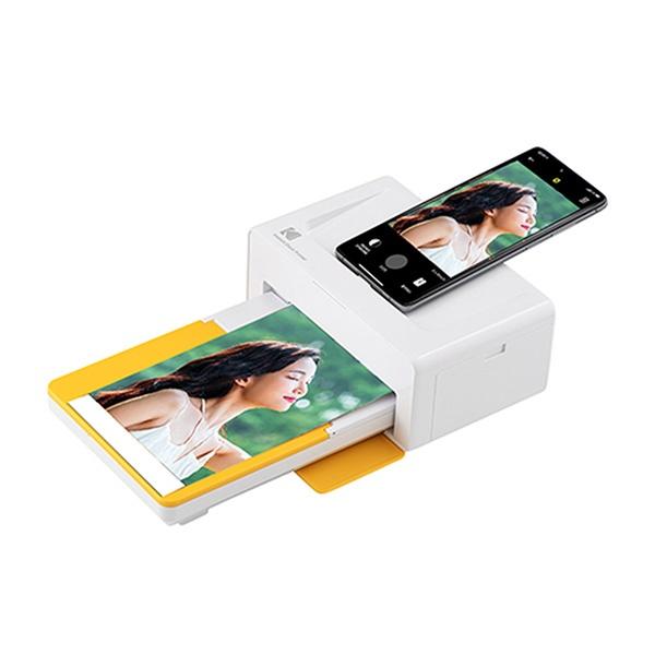 가정용 포토 프린터 도크2 PD460 화이트 (엘로우커버) + 카트리지 80매