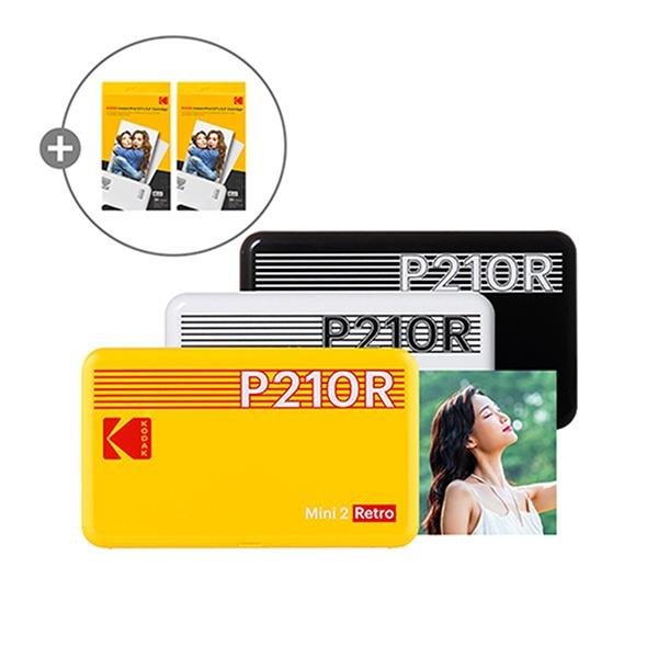 휴대용 포토프린터 미니 2 레트로 P210R 핸드폰 사진인화기 + 카트리지 60매