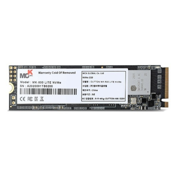 OUTTON MK-500 LITE series M.2 NVMe 2280 512GB TLC