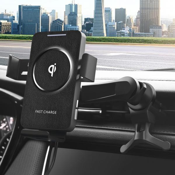스마텍 차량용 FOD센서 15W 휴대폰 무선충전 자동 거치대 C23