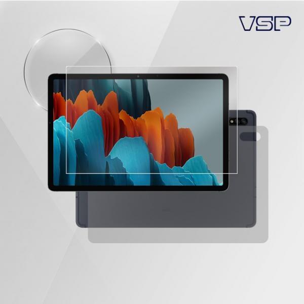 뷰에스피 2020 갤럭시 탭S7 11인치 올레포빅 액정+유광 스킨 전신 외부 보호필름 각1매