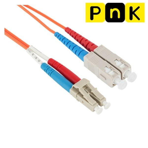 강원전자 PnK P100A 10G 광점퍼코드 LC-SC-2C-멀티모드 5m