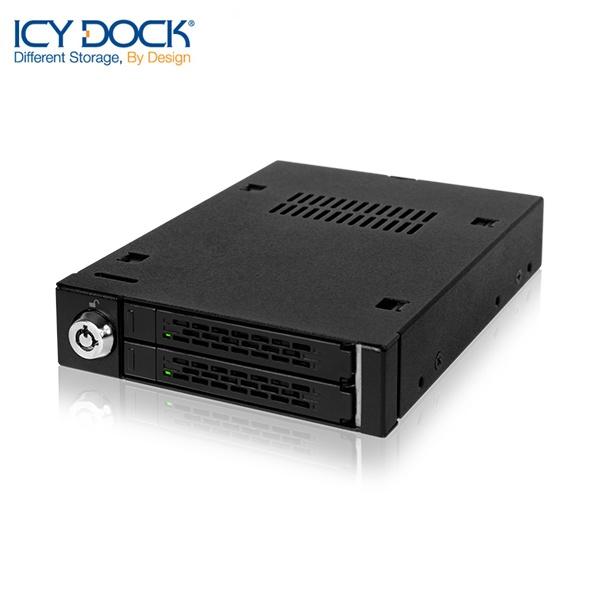 ICYDOCK 하드랙 MB992SK-B (3.5베이 1개 사용[2.5형 SATA/SAS 2개 장착][잠금장치])