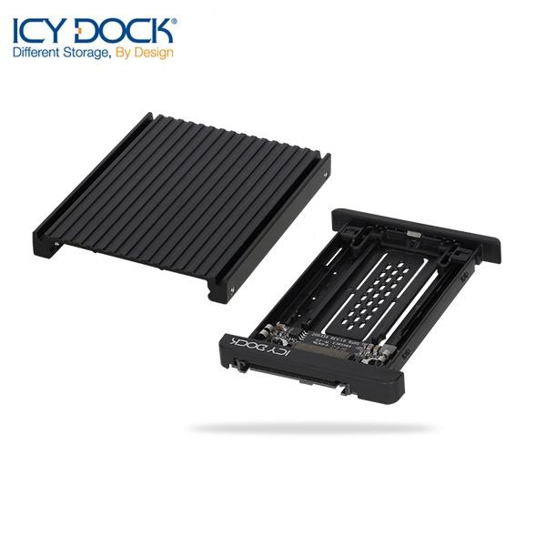 ICYDOCK 하드랙 MB705M2P-B (U.2 변환 가이드[M.2 NVMe SSD 장착])