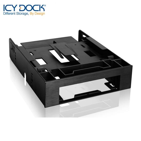ICYDOCK 하드랙 MB343SP-B (5.25베이 1개 사용[3.5형 HDD 1개 ,2.5형 SSD/HDD 2개 장착])