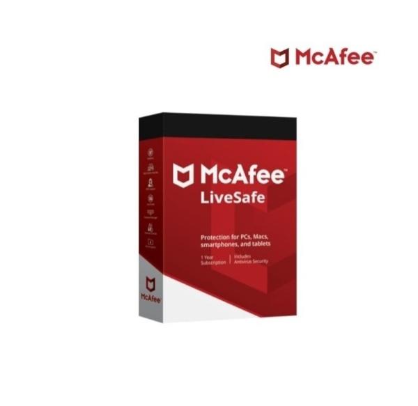 맥아피 라이브세이프 (McAfee LiveSafe) [기업용/라이선스/1년사용/10user 사용가능]