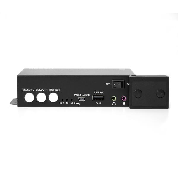 이지넷 NEXT-7402KVM-DUAL [모니터분배기/2:1/UHDMI 지원/오디오 지원]